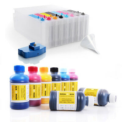All Inclusive Set | 250ml | NOVA-X® K3V Tinte kompatibel Epson® Stylus Pro 4880