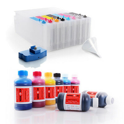 All Inclusive Set | 250ml NOVA-X® K3 Tinte kompatibel Epson Stylus Pro 7800 9800