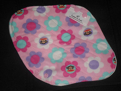 ~Remnant mix ~ 3 Cloth Menstrual Mama Pads 10, 12 &14in W/ PUL