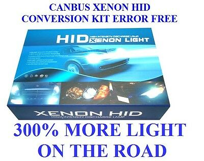 Canbus Xenon Hid  Kit Error Free H11 6000K 55W 300% More Light In The Road