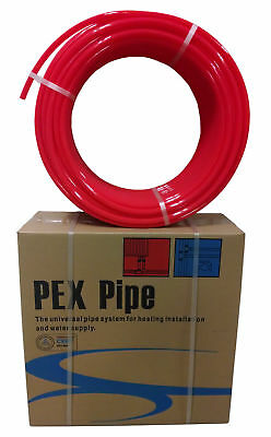"1/2"" x 500ft Pex Tubing Oxygen Barrier EVOH Pex-B Red 500 ft Radiant Floor Heat"