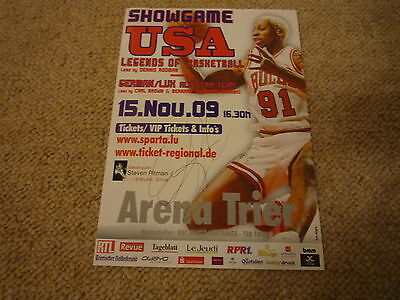 DENNIS RODMAN signed Autogramm 20x30 cm In Person USA Basketball