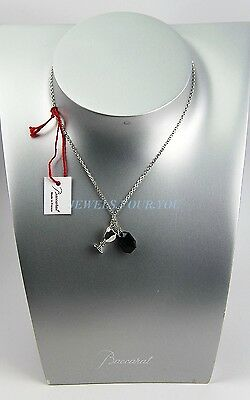 BACCARAT JEWELRY B MINE HARCOURT ONYX STERLING SILVER NECKLACE NEW FRANCE