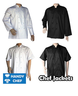 Premium Quality Chef Jackets **4 Value Pack** - Black or White - Chef Jackets