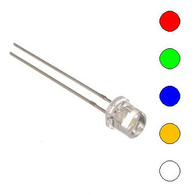 E-Projects - 5 Color Assorted 5mm LEDs - Wide Angle Light (25 Pcs)