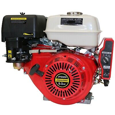 9HP Electric Start OHV Stationary Petrol Engine Horizontal Shaft Saw Bench Pump