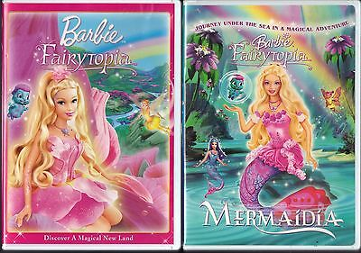 Barbie - Fairytopia (DVD, 2011) & Barbie - Fairytopia: Mermaidia (DVD, 2006)