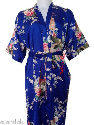 Ladies Silk Kimono. Dressing Gown Robe One Size fits regular  Attractive Design.