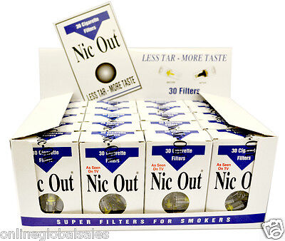 20 x Nic Out Cigarette Filters (600 filters) w/Free 1 Pack Fresh Filters Gift
