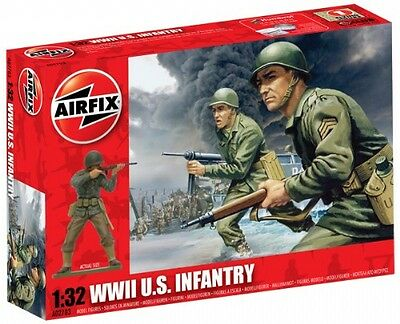 Airfix 02703 WWII US Army Infantry 1/32 Scale Plastic Model Figures