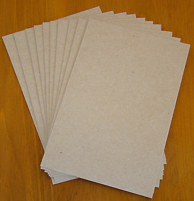 CHIPBOARD 5.5 x 8.5 .030/30pt 10 sheets QUALITY