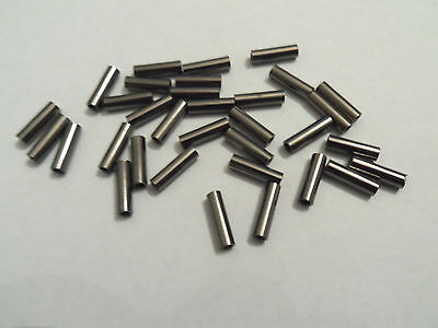 8mm single fishing crimps for rig making - various sizes from 0.8mm - 2.2mm bore