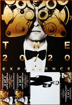 JUSTIN TIMBERLAKE The 20/20 Experience Ltd Ed Discontinued RARE New Poster!