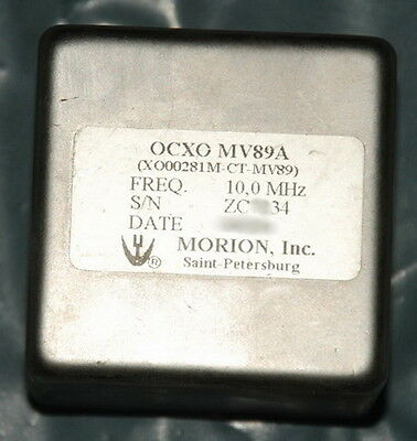 Morion Double oven ultra precision OCXO MV89A 10mhz,year 2006 MANUFACTURED