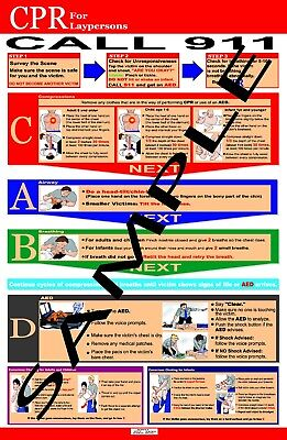 Layrescuer CPR Poster  New 2015 Guidelines!!!!