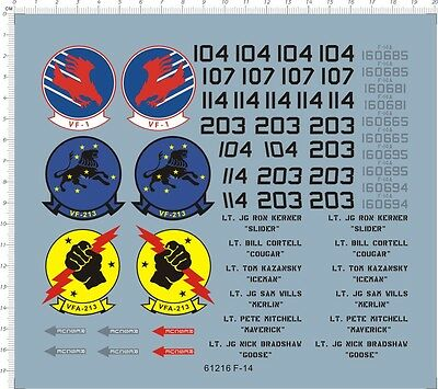 1/32 decals F-14 VF-1 VFA-213  (61216)
