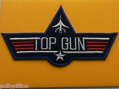 MILITARY SEW ON / IRON ON PATCH:- UNITED STATES NAVY (d) TOP GUN FIGHTER MAVERIC