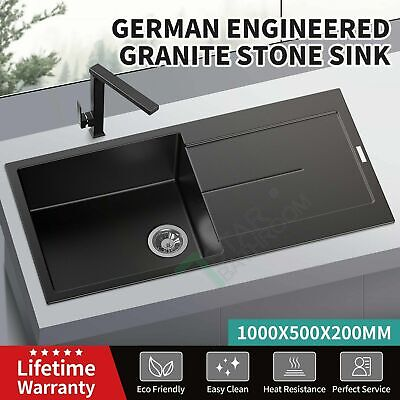 Single Bowl Kitchen Sink Stainless Steel 304 Square Topmount Undermount Drop in