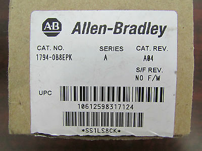 ALLEN BRADLEY 1794 0B8EPK Module NEW IN OPENED BOX