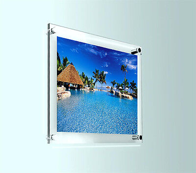 "10"" X 12"" Acrylic Wall Mount Photo Frame Picture Wall Art Display Clear Perspex"