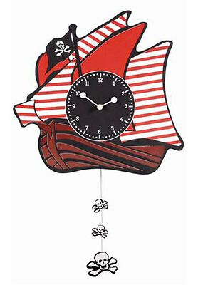 NEW Pirate Ship Wall Clock - 4KnB
