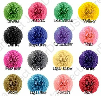 "8 pieces Sizes 8'', 10'', & 15"" Tissue Paper Pom Poms Flower Wedding Decoration"