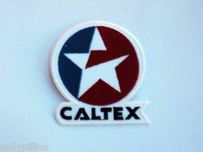 "Motor Racing Rally Nascar Sew/iron On Patch:- Caltex ""5 Point Delta Star"""