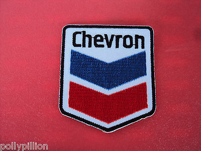 Motor Racing Rally Nascar Sew/iron On Patch:- Chevron Oils Gas & Fuels