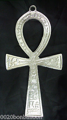 "Egypt Ankh 3.2"" Brass Wall Hanging Engraved Cross key of Life Hieroglyphics  213"