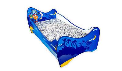 Childrens Bed Toddler Kids With Mattress !!! New !!! 4 Designs !!!