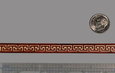 "Complex Micro Sized Greek-Key Inlay Banding 5/16"" x 24"" --- 1/16"" Thick"