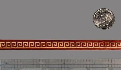 "One Micro Sized Greek-Key Inlay Banding 5/16"" x 24"" --- 1/16"" Thick"