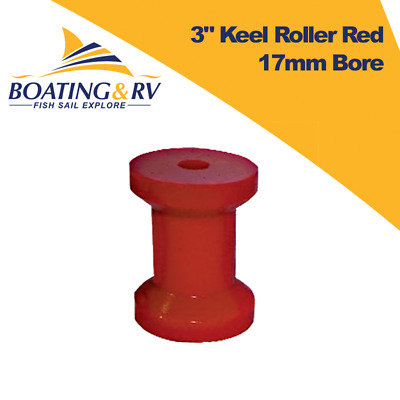 "3"" Keel Roller Red 17mm Bore - Trailer and Towing"