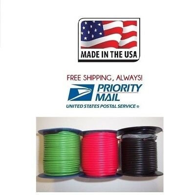 16 ga 300' FEET = 3 ROLLS OF 100' WIRE RED, BLACK, GREEN INSULATED STRANDED USA