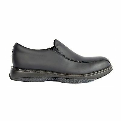 Redback BLACK CHEF SHOES WATER OIL REPELLENT LEATHER ANTIBACTERIAL RCBN
