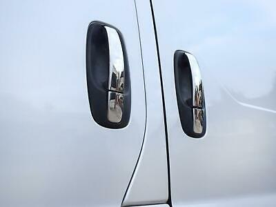 Stainless Steel Chrome Door Handle Covers 3pc Set for Renault Trafic (01-14)