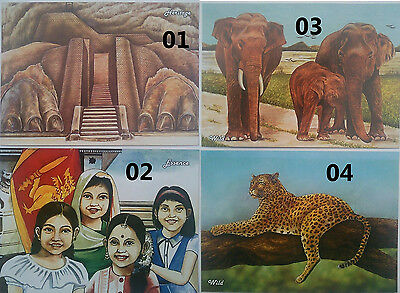 1 X SRI LANKA USED PICTURE POST CARD - World Tourism Day - WITH 6 STAMPS ON IT.