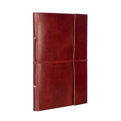 Fair Trade Handmade Plain Leather Photo Album Scrapbook, Eco Friendly