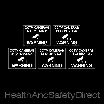 Cctv - Cameras In Operation *pack Of 5* Security Window Stickers (Misc37R)