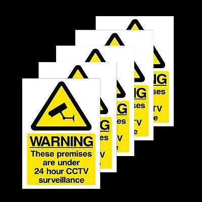 5x CCTV 24 Hour Surveillance in Operation Window Stickers - All Sizes (MISC12R)