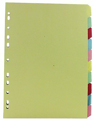 Manilla Subject Divider A4 Multi-Punched 10-Part 26082
