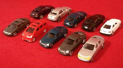 Selection of 10 Plastic Model Cars HO/OO Gauge