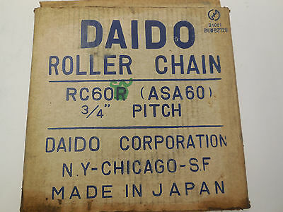 "New Daido Rc60R Roller Chain 3/4"" Pitch"