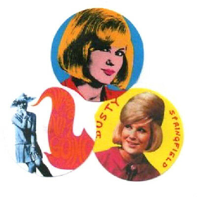 3 DUSTY SPRINGFIELD  BADGES. Mod, 60's pop.