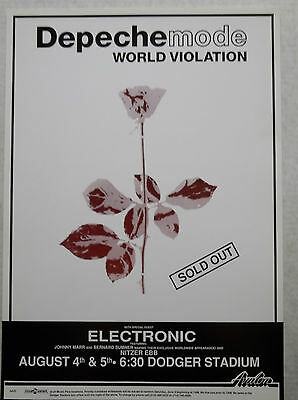 Depeche Mode Concert Poster Dodger Stadium Los Angeles