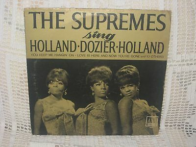 """THE SUPREMES sing HOLLAND DOZIER HOLLAND / MOTOWN 650 """"Mono"""""""