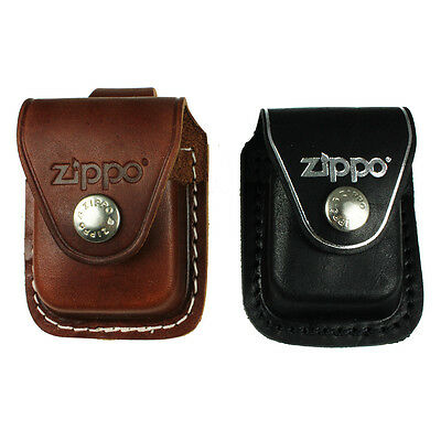 Zippo Pouch,black,brown, Case Cover,belt,clip,loop,genuine Leather For Lighter