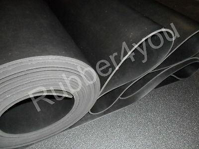 Black Solid Hard Durable Rubber Sheet Sheeting 1mtr x 1.2mtr x various thk's