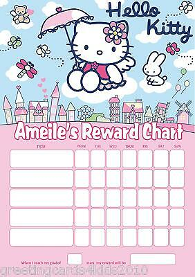 Personalised Hello Kitty Reward Chart & Pen - with or without photo