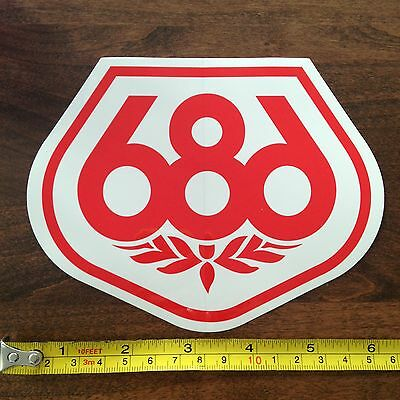 686 Snowboards STICKER Decal NEW Red White